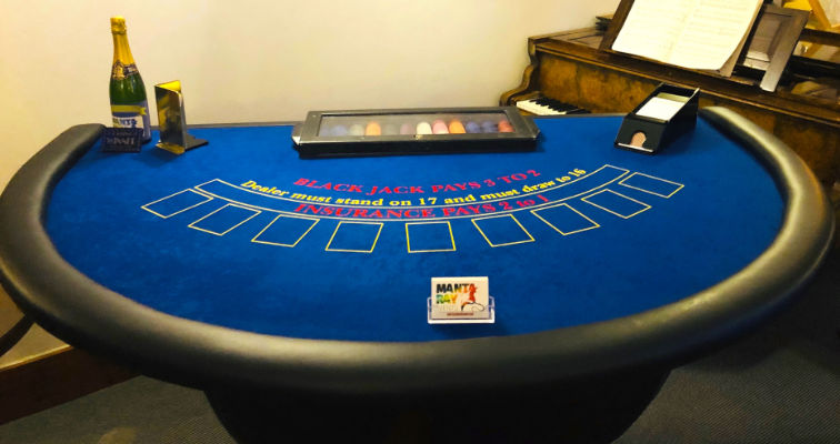 Manta Ray Events - Blackjack Table