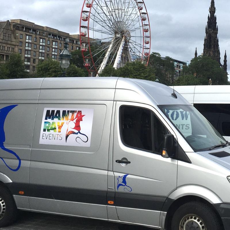 Manta Ray Events Van