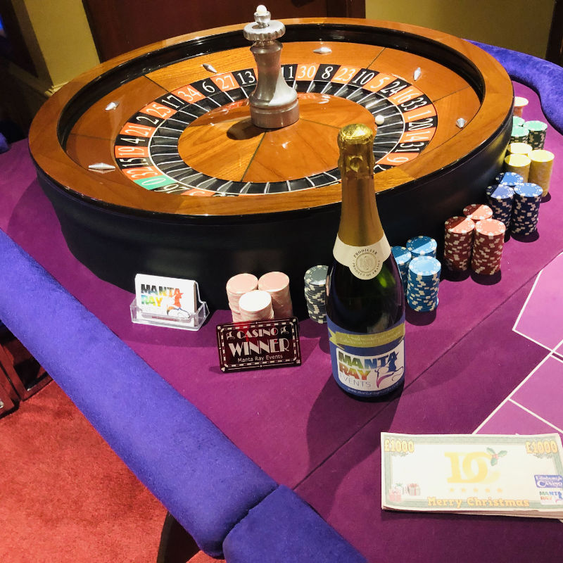 Manta Ray Events - Roulette Table and Wheel