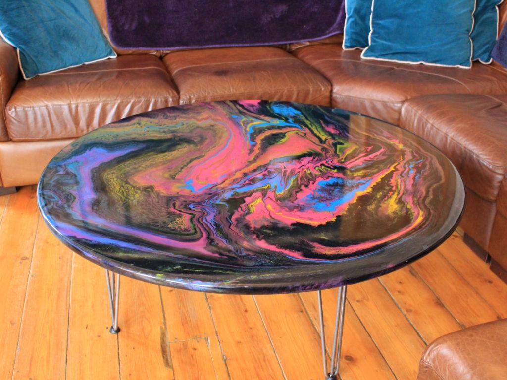 Cosmic liquorice table - Manta Ray Designs